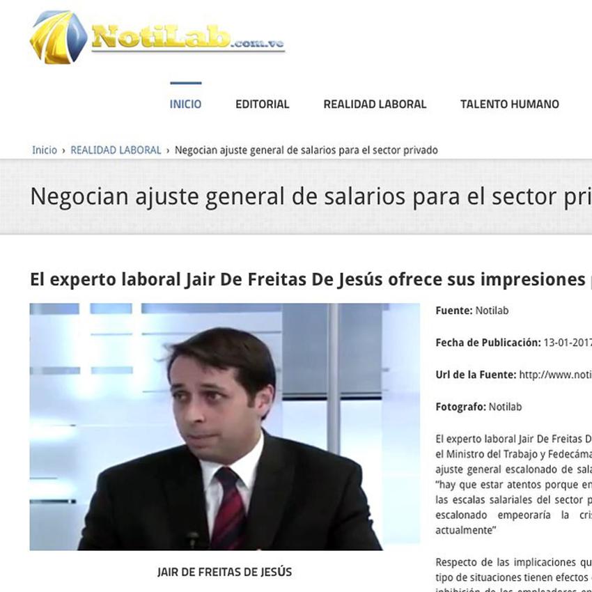 Nota de prensa: Negocian ajuste general de salarios para el sector privado